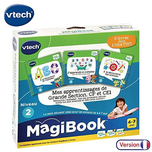 VTech – Libro MagiBook – Mes Primeros aprendices Nivel de la guardería – Pack de 3 Libros, Libros educativos