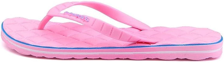 Mens Sandals, Women and Men's Thong Slipper Flip Flop Leisure Beach Sandals (color   Pink, Size   6MUS)
