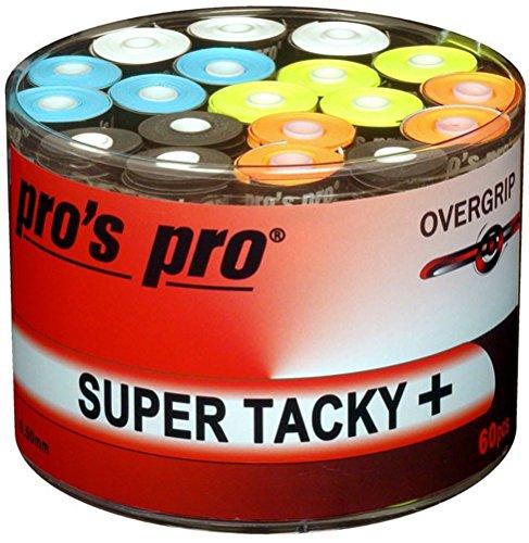 60 Overgrip Super Tacky Tape plus Tennis Pros Pro Griffband bunt
