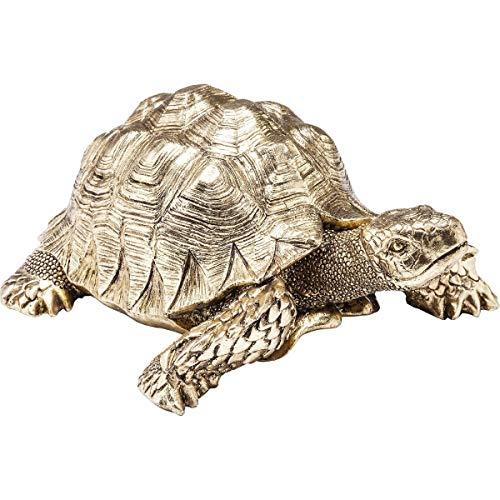 Kare Design Deko Figur Turtle Schildkröte Gold klein, kleine goldene Schildkröte als Accessoire für den Wohnraum