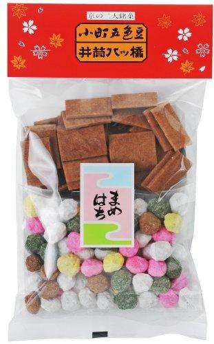 【豆富本舗】一袋で二つの味 五色豆と八ツ橋の袋入 豆八 小 110g入