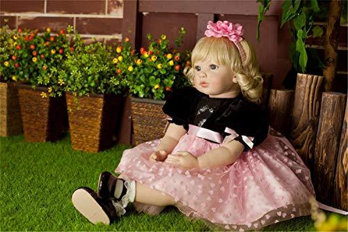 Binxing Toys Bebes Reborn Recien Nacidos Niña 24 Pulgadas 60cm Adorable muñeca de Silicona Reborn Toddler Juguetes