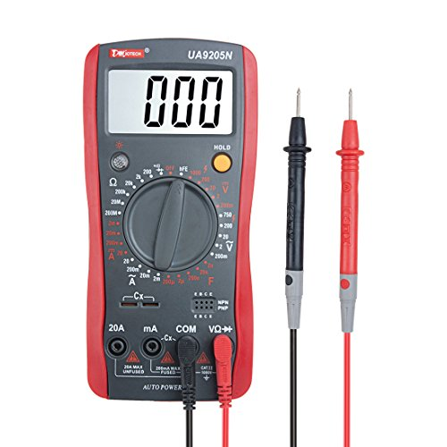 Continuity Capacitance Current Resistance Tests Diodes uxcell Analog Multimeter AC//DC Voltage Transistors Battery Check Tester