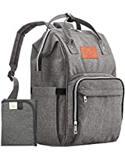 KeaBabies Diaper Bag Backpack - Multi-Function Waterproof Travel Baby Bags For Mom, Dad, Men, Women - Large Maternity Nappy Bags For Girls & Boys - Stylish - Diaper Mat Included