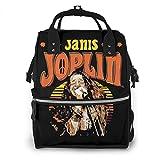 マザーズバッグ 大容量 多機能 ジャニス・ジョプリン Janis Joplin (2) マザーズリュックママバッグ 旅行用· 出産準備 ·花見 ·花火大会·通勤·通学 バックパック男女兼用 大型
