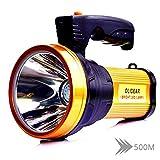 SHLYXY Taschenlampe Helle Wiederaufladbare LED-Taschenlampe Handscheinwerfer Mit Handscheinwerfer...