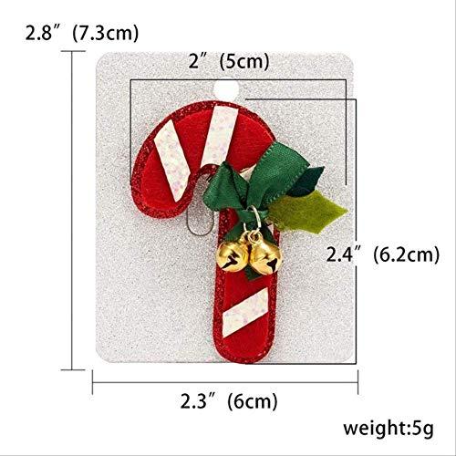 XZFCBH Brosche Frauen Mode Weihnachten Brosche Papier Karte Weihnachtsmütze Schneemann Glocken Elch Weihnachtsbaum Filz Tuch Abzeichen Pins Brosche Schmuck 9