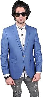 Mens Linen Fabric Blazer - Light Blue