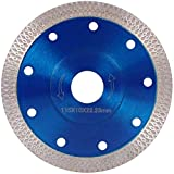 Disco de Corte de Diamante Hoja de Diamante en Seco para Gres Porcelánico, Granito, Cerámica, Cuarcita, Mármol (Azul 115mm)