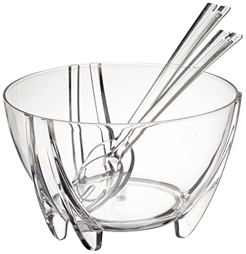 Prodyne SB-3-C Acrylic Salad Bowl with Servers