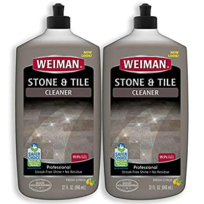 Weiman Stone Tile and Laminate Cleaner - 32 Ounce 2 Pack - Professional Tile Marble Granite Limestone Slate Terra Cotta Terrazzo and More Stone Floor Surface Cleaner