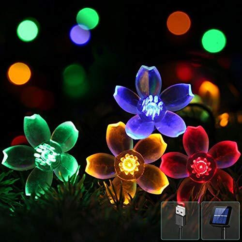 EC Technology LED Solar Lichterkette, USB Lichterkette, Lichterkette wasserdicht IP65, 7 Meter 50er Stimmungslichter Lichterkette für Innen, Weihnachten, Außen, Party, Hochzeit, DIY usw