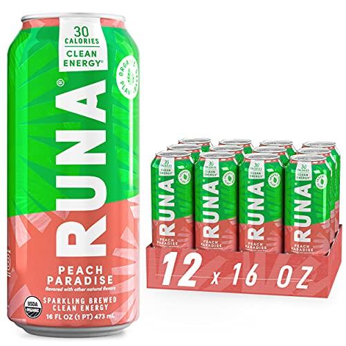 Organic Clean Energy Drink by RUNA   BOLD Peach
