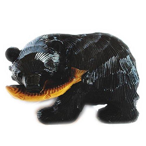 貯金箱 鮭喰熊
