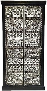 Marrakesch Simba - Armario ropero de madera maciza oriental para el pasillo dormitorio salón o baño