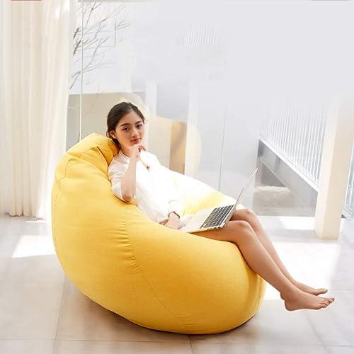 Pouf Sac Chaise Lazy Couch Chambre Balcon Mousse Particules Simple (Couleur   C, taille   100  120cm)