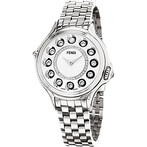 Fendi Women's CrazyCarats Swiss-Quartz Watch with Stainless-Steel Strap, Silver, 16 (Model: F107034000D2T05)