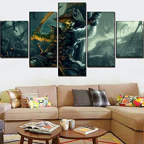 DJxqJ 5Leinwanddrucke Wall Art Home Dekorative 5 Panel Zombie Menschen Bild One Set Rahmen oder ungerahmt Movie Poster