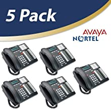 Nortel Norstar Telephone, Charcoal, 5 Pack (T7316e) (Renewed)