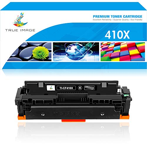 True Image Compatible Toner Cartridge Replacement for HP 410X CF410X CF410A 410A M477 M452 Laserjet Pro MFP M477fdw M477fnw M452dw M477fdn M452nw M452dn M377dw (Black, 1-Pack)