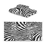 TropicalLife iRoad - Juego de 3 toallas de algodón abstractas con estampado de cebra, altamente absorbentes, toallas de mano, toallas de baño para baño y cocina