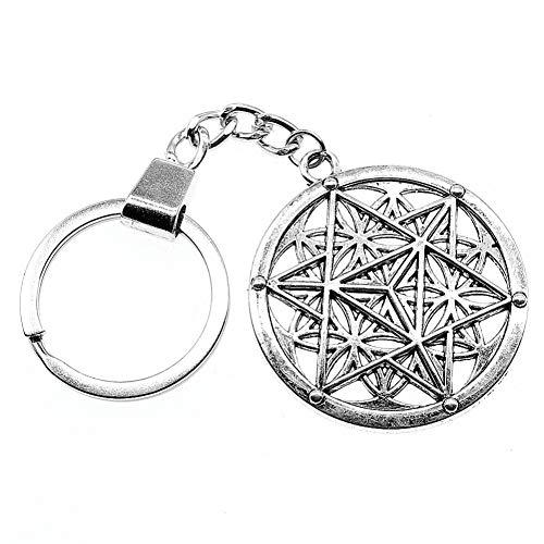 N/A hol gesneden ronde magische sleutelhanger geschenken holle gesneden ronde magische sleutelhanger ronde magische sleutelring geschenken voor vrouwen