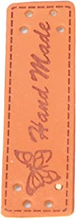 Rosvola Etiquetas de roupas de couro, etiquetas de roupas estampadas para jeans (20 etiquetas de couro feitas à mão borbol...