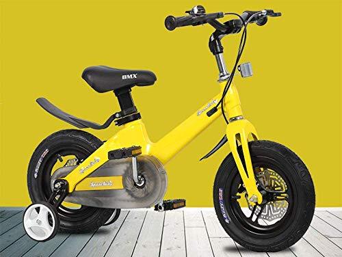 WCY Las Bicicletas Plegables Bicicletas for niños Bicicleta de los niños de 16 Pulgadas 3-6-8 años Niño Niña de Bicicletas yqaae