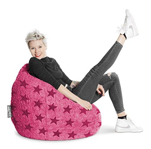 SITTING POINT Sitzsack Fluffy Stars XL ca. 220 Liter pink