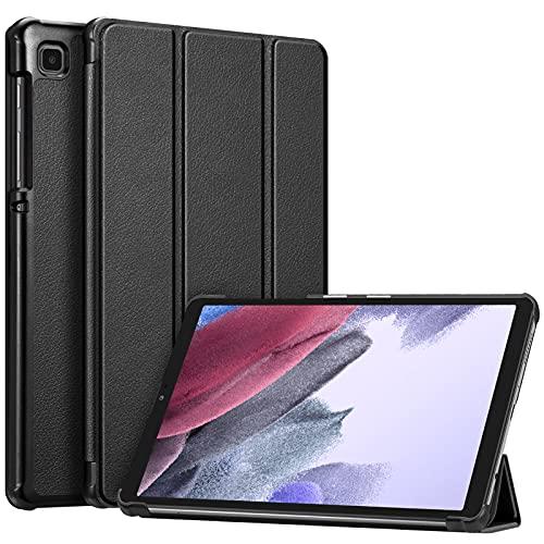 Fintie Hülle für Samsung Galaxy Tab A7 Lite 8.7 2021 - Ultra Schlank Kunstleder Schutzhülle Cover für Samsung Galaxy Tab A7 Lite 8.7 Zoll SM-T225/T220 Tablet, Schwarz