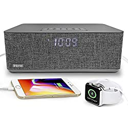 iHome iBT233V2 Bluetooth Dual Alarm FM Clock Radio with Speakerphone and Dual USB Charging (Dual Charge)