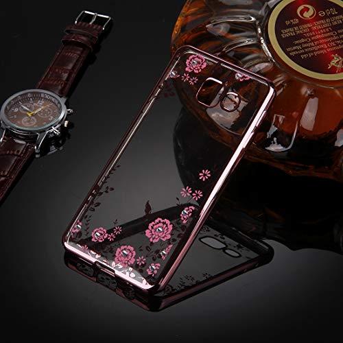 YANTAIAN For Samsung Galaxy A5 (2016) / A510 Patrones de Flores Galvanoplastia TPU Funda Protectora de la Cubierta (Color : Rose Gold)