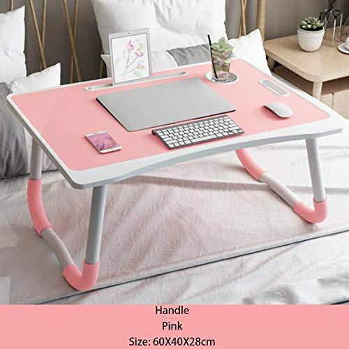 Escritorio de portátil, Mesa de portátil de madera con patas plegables para el maquillaje que come el estudio del escritorio del ordenador portátil, escritorio simple de la computadora en el sofá cama