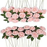 InnoGear Artificial Flowers, 50 Pack Faux Flowers Fake Flower Ivory Roses Perfect for DIY Wedding Bouquets Centerpieces Bridal Shower Party Home Decorations