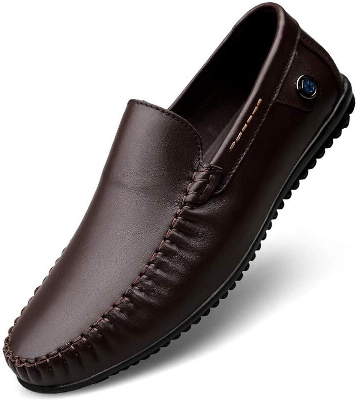 Hy Hy Hy Herrenschuhe, Frühlings- Sommer-Comfort-Loafers & Slip-Ons Radschuhe Wanderschuhe Slip-Ons Driving schuhe,braun,42 7c402a