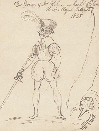 Sulis Fine Art Dibujo lpiz y Tinta 1835 diseo de Disfraz teatral