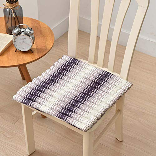 XNDCYX Chair Seat Cushions for Dining Room Set of 6, Patio Furniture Cushions Covers, Solid Home Floor Cushion, Easy Care, for Home Living Room Floor Cushion,2 Pack