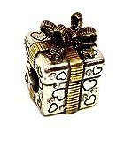 Brighton Gift Box Stopper Bead, J95142, Two Tone Finish