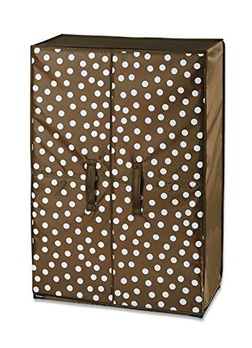 WENKO Schuhschrank Pretty Woman - für bis zu 15 Paar Schuhe, Polyester, 61 x 90 x 32 cm, Braun
