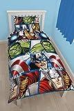 Oficial Vengadores Iron Man, Hulk, Thor, Capitán América Individual Juego Colcha Edredón