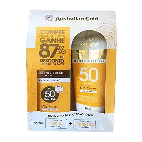 Protetor Solar Australian Gold Corpo E Face 50fps Lançamento