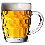 bar@drinkstuff The Great British Half Pint Dimple Mug 10oz / 285ml - Pack of 4 - Traditional Beer Tankards