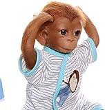 Pinky Reborn Muñecos Bebe Reborn Niña Mono Bebé 18 Pulgadas 45cm Silicona Muñeca Mono Bebe Muñeca Parece Realista Precioso Mono de Piel Juguete colección