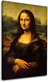 Cuadro moderno - Mona Lisa La Gioconda Leonardo Da Vinci - MonaLisa Lienzo de lona con o sin marco - elija el tamaño que prefiera - cm 50 a 130 cm de ancho (CUADRO CON MARCO DE MADERA, CM 40X60)