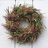 FRI-Collection Türkranz Herbstkranz Naturkranz Calluna frisch gebunden 41 cm