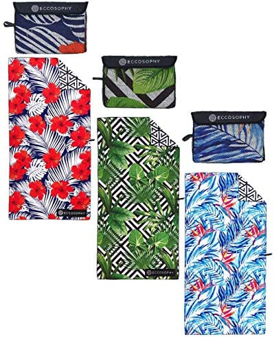 ECCOSOPHY Beach Towel Floral Bundle Collection Includes 3 Quick Dry Sand Proof Microfiber Beach product image