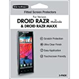 WriteRight 9255701 Screen Protectors for Motorola Droid RAZR Maxx - 3 Pack - Retail Packaging - Clear