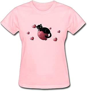 Refined Cats Hearts Cat Art Love Women's Cotton Short Sleeve T-Shirt