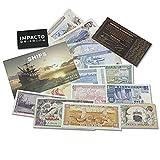 IMPACTO COLECCIONABLES Billetes del Mundo - Colección de 13 Billetes Diferentes de Barcos
