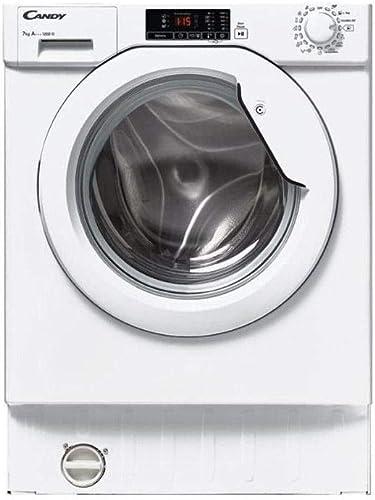 Lave linge encastrable Candy CBWM712DS - Lave linge Frontal encastrable - Intégrable - capacité : 7 Kg - Vitesse d'es...